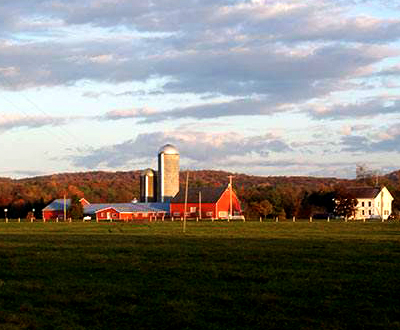 Simply Grazin' barns and farmhouse in Upstate NY