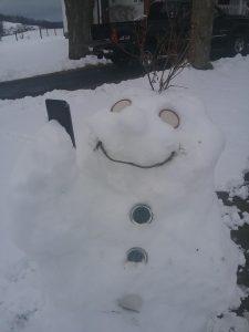 snowman taking a selfie