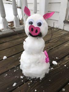Piggy Snowman