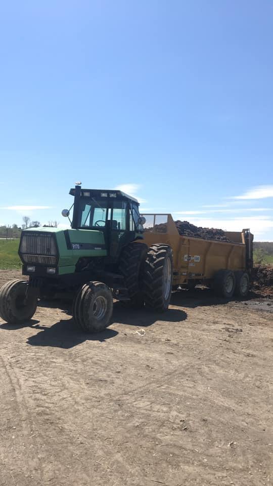 new manure spreader's first run