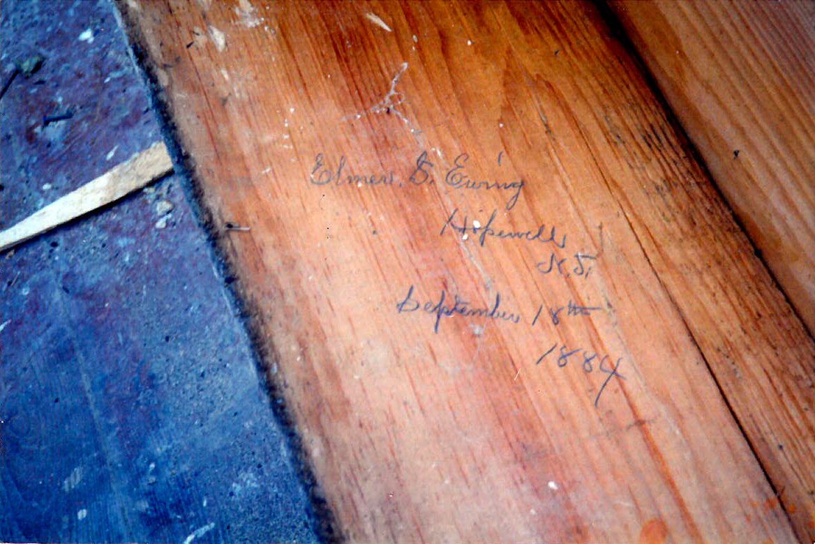 Signed farmhouse board dated 1884