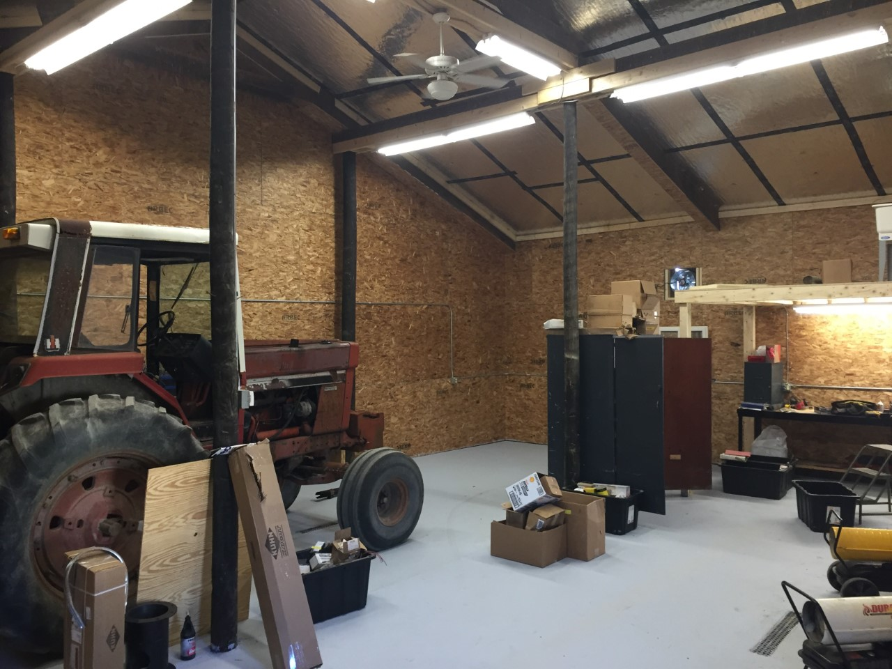 New shop for mechanics at Simply Grazin' NY farm is finished