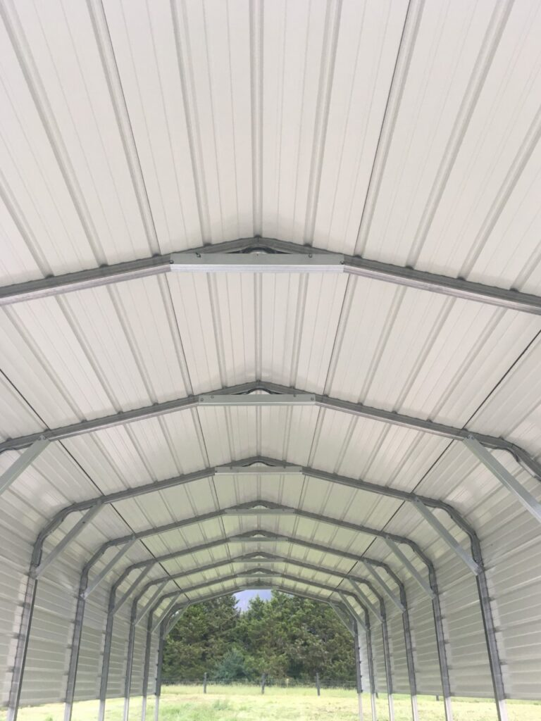 Carport pig shelter installed at Simply Grazin' Baskerville, VA field 4