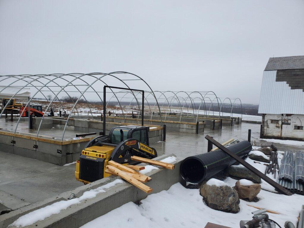 Farm 4 in Fort Edward NY- new hoop barns at Simply Grazin' NY farm