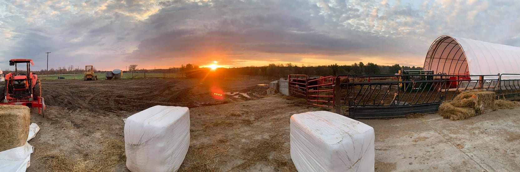Sunrise over Simply Grazin' Fort Ann, NY farm on April 20, 2021