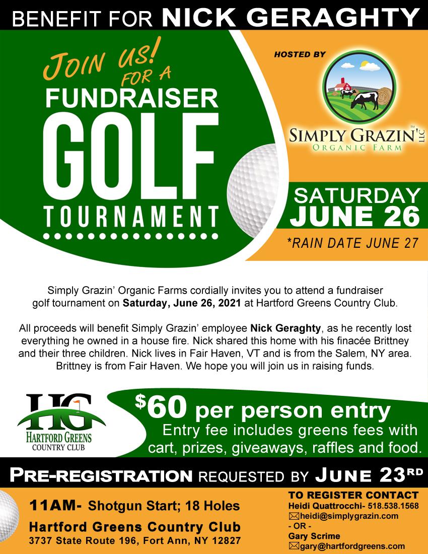 Fundraiser Golf Tournament to benefit Nick Geraghty