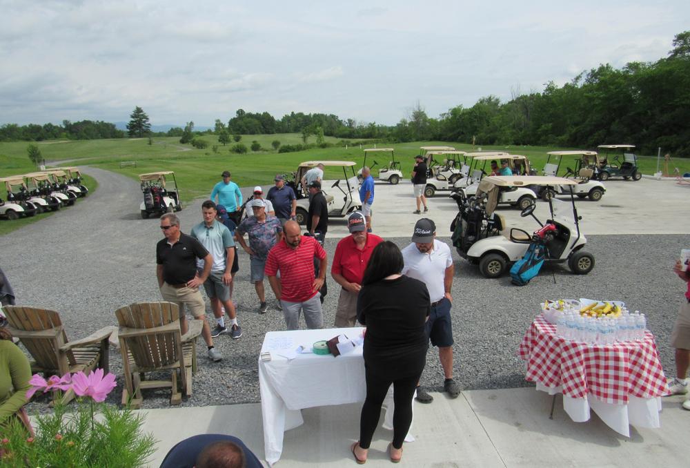 Registrants for the Geraghty Fundraiser Golf Tournament
