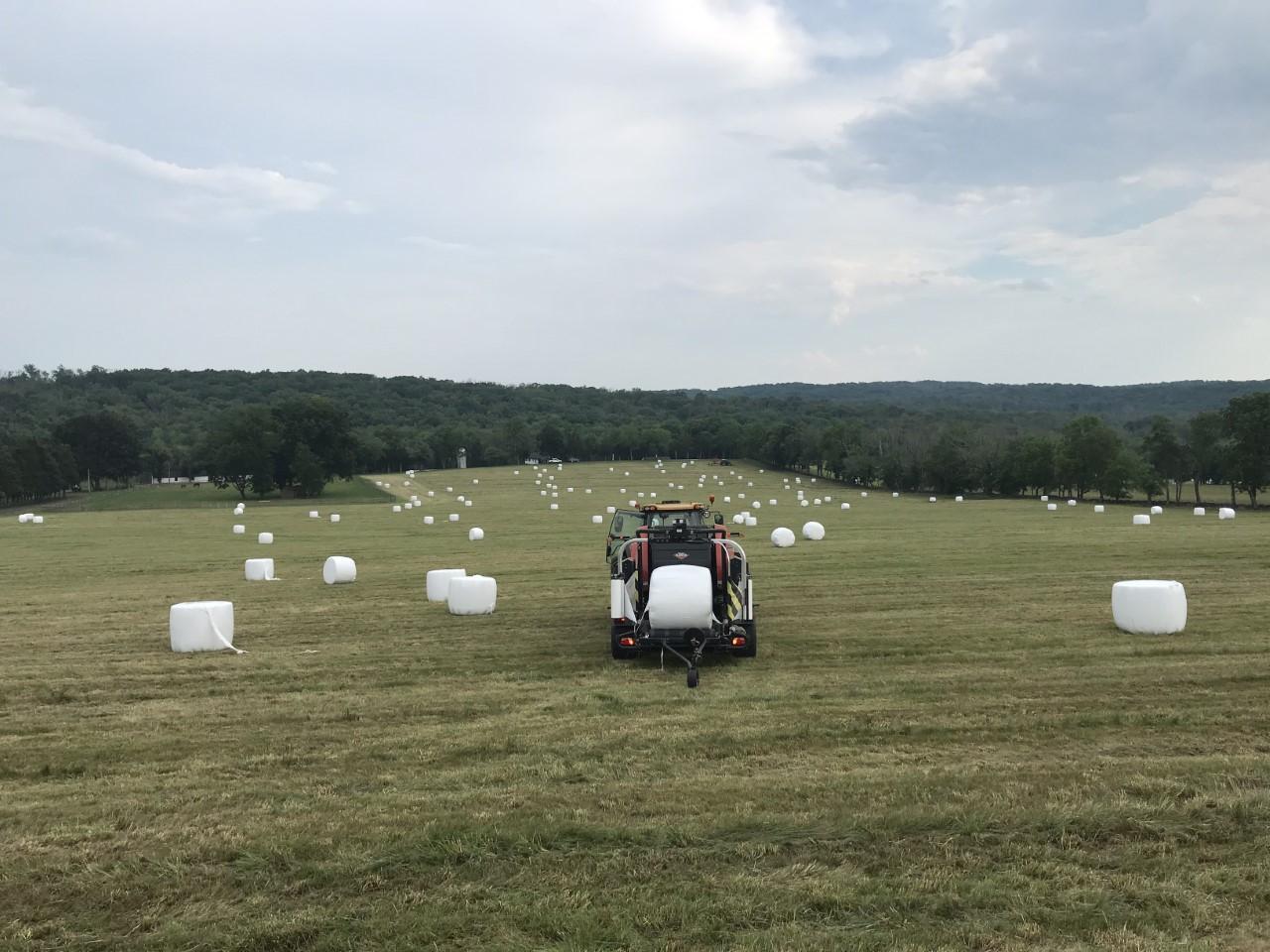 First hay cutting of 2021 at VA farm