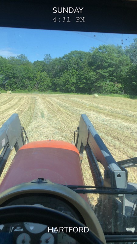 Sunday afternoon working the fields in Hartford, NY