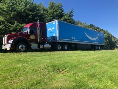 SImply Haulin' truck does an Amazon run