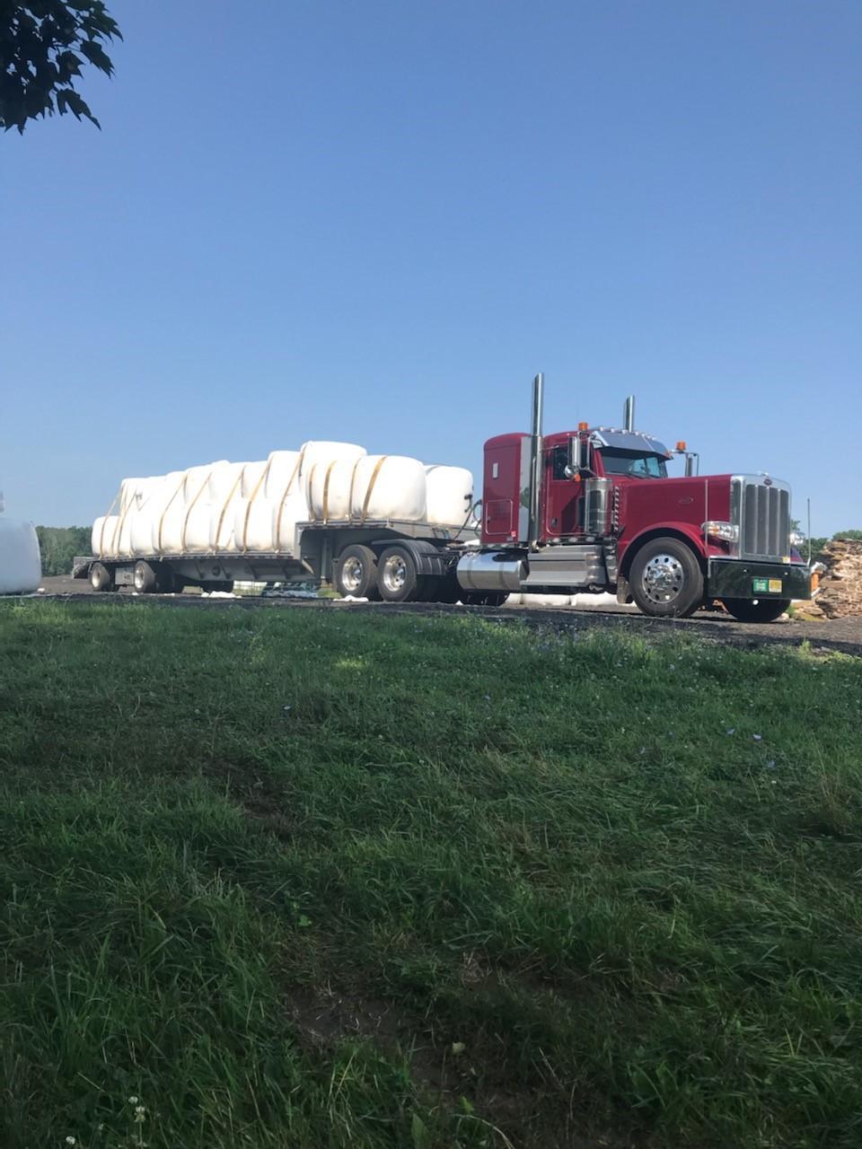 Simply Haulin' hay from NJ to NY
