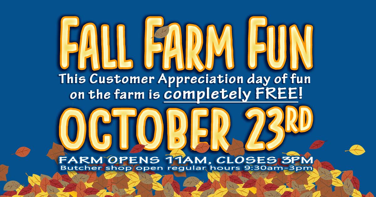 Fall Farm Fun- Customer Appreciation Day sponsored by Simply Grazin' farms and Skillman Farm Market and Butcher Shop